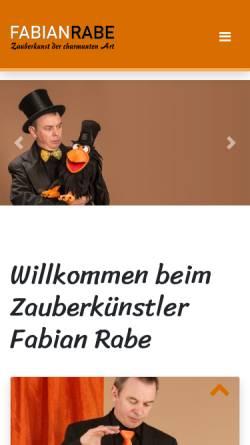 Vorschau der mobilen Webseite www.fabianrabe.de, Fabian Rabe