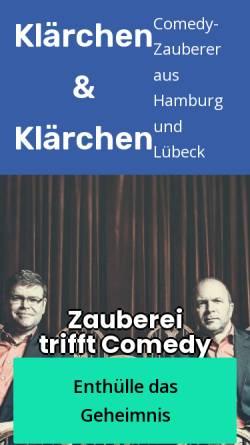 Vorschau der mobilen Webseite www.klaerchen.de, Klärchen & Klärchen