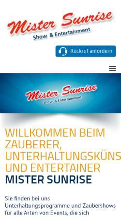 Vorschau der mobilen Webseite www.mister-sunrise.de, Mister Sunrise alias Matthias Rittgen