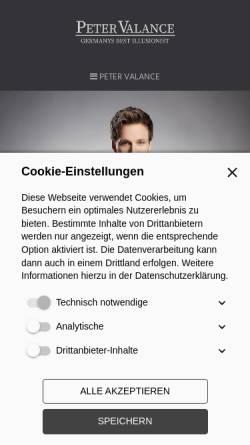 Vorschau der mobilen Webseite www.petermuenst.de, Peter Münst