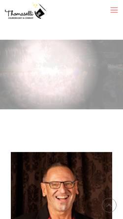 Vorschau der mobilen Webseite www.zauberer-lindau-bodensee.de, Zauberkunst und Comedy mit Zauberkünstler Thomaselli