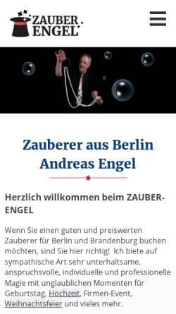 Vorschau der mobilen Webseite www.zauber-engel.de, Zauber-Engel