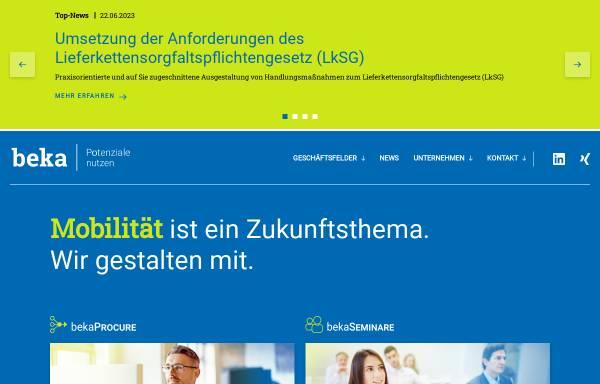 Vorschau von www.beka.de, BEKA Einkaufs- und Wirtschaftsgesellschaft für Verkehrsunternehmen mbH