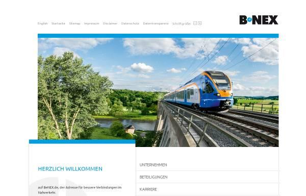 Vorschau von www.benex.de, BeNEX - Bessere Verbindungen im Nahverkehr
