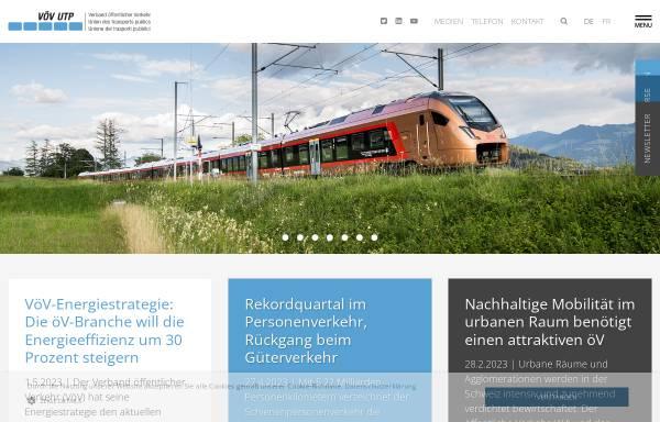 Vorschau von www.voev.ch, Verband öffentlicher Verkehr