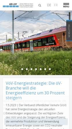 Vorschau der mobilen Webseite www.voev.ch, Verband öffentlicher Verkehr