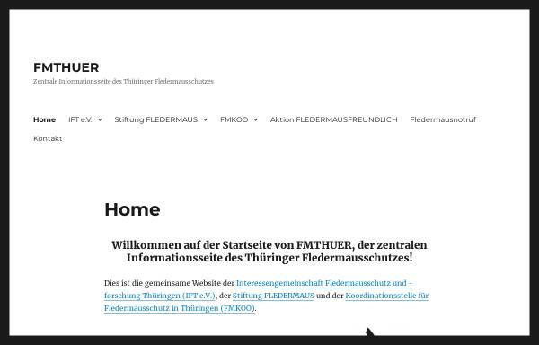 Vorschau von fmthuer.de, Fledermausschutz in Thüringen