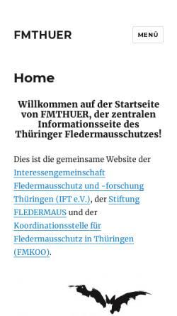 Vorschau der mobilen Webseite fmthuer.de, Fledermausschutz in Thüringen