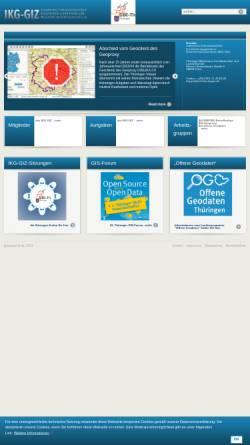 Vorschau der mobilen Webseite www.thueringen.de, Geoinformationszentrum Thüringen