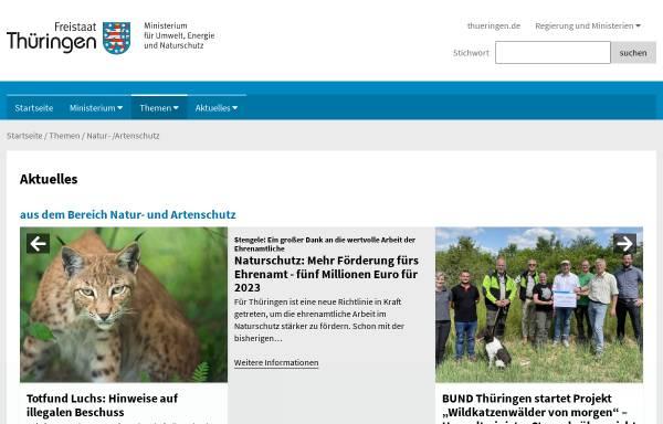 Vorschau von www.natur-thueringen.de, Nationale Naturlandschaften von Thüringen