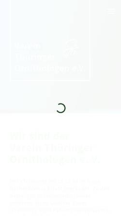 Vorschau der mobilen Webseite www.ornithologen-thueringen.de, Verein Thüringer Ornithologen e.V.