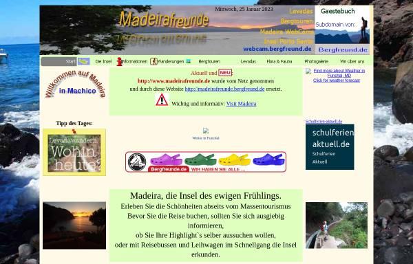 Vorschau von www.madeirafreunde.bergfreund.de, Madeira erleben mit dem Taxifahrer Manuel