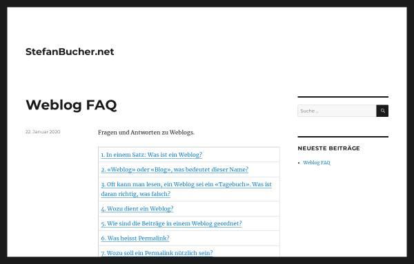 Vorschau von www.stefanbucher.net, Umgang mit dem Browser