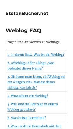 Vorschau der mobilen Webseite www.stefanbucher.net, Umgang mit dem Browser