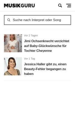 Vorschau der mobilen Webseite www.golyr.de, goLyr.de