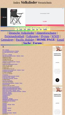 Vorschau der mobilen Webseite ingeb.org, Ingeb.org: Volkslieder