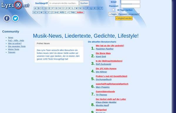 Vorschau von www.lyrix.at, LyriX.at