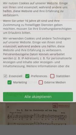 Vorschau der mobilen Webseite mittelalter-lieder.de, Mittelalter-Lieder.de