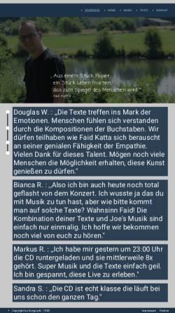 Vorschau der mobilen Webseite www.songlyrik.de, Songlyrik.de