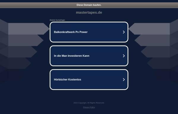 Vorschau von www.mastertapes.de, Mastertapes