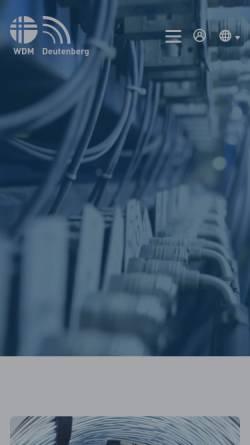 Vorschau der mobilen Webseite www.wdm-wolfshagen.de, WDM Wolfshagener Draht- und Metallverarbeitung GmbH