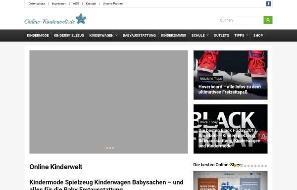 Vorschau von www.online-kinderwelt.de, Groß- und Einzelhandel Andreas Hübner