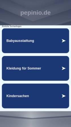 Vorschau der mobilen Webseite www.pepinio.de, Pepinio.de Silvia Lubotzki