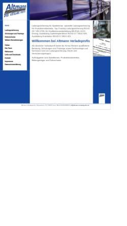 Vorschau der mobilen Webseite altmann-verladeprofis.de, Altmann, Christian