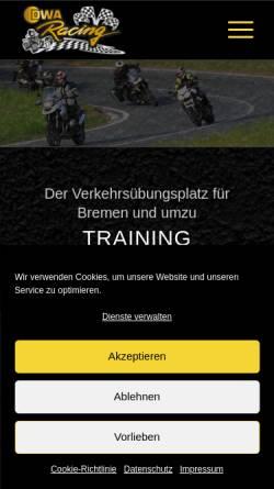 Vorschau der mobilen Webseite www.verkehrssicherheits-training.de, Gesellschaft zur Förderung der Verkehrssicherheit mbH