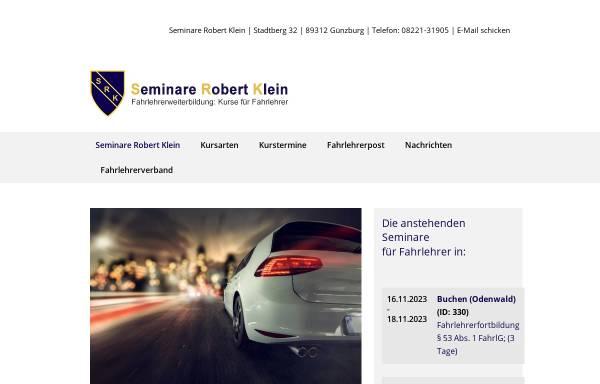 Vorschau von www.fahrlehrerweiterbildung.de, Klein, Robert