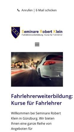 Vorschau der mobilen Webseite www.fahrlehrerweiterbildung.de, Klein, Robert