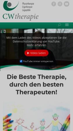 Vorschau der mobilen Webseite www.cwtherapie.de, CWTherapie GmbH