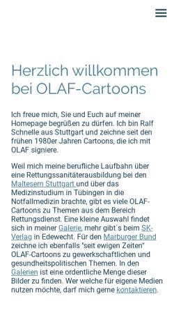Vorschau der mobilen Webseite www.olaf-cartoons.de, Olaf-Cartoons