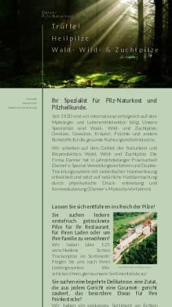 Vorschau der mobilen Webseite danner-pilze.de, Danner Pilznahrungsmittelwerk