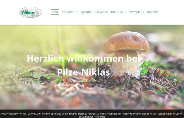 Vorschau von www.pilze-niklas.de, Uwe Niklas GmbH