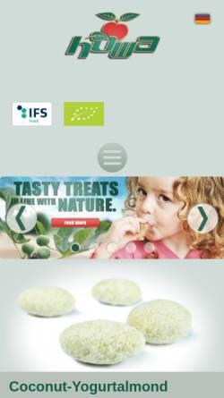 Vorschau der mobilen Webseite www.howa.de, Horst Walberg Trockenfrucht Import