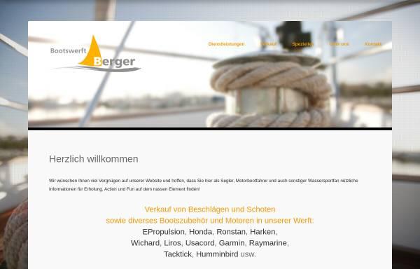 Vorschau von www.bootswerftberger.ch, BWB Bootswerft Wassersport Berger