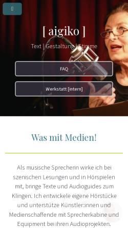 Vorschau der mobilen Webseite www.aigiko.de, Aiga Kornemann