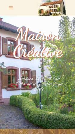 Vorschau der mobilen Webseite www.maison-creative.de, Maison Creativ Werkstatt für Textilkunst