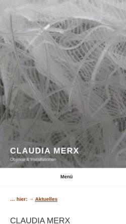 Vorschau der mobilen Webseite www.claudiamerx.de, Merx, Claudia