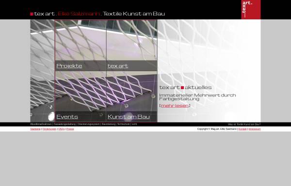 Vorschau von www.texart.at, tex art