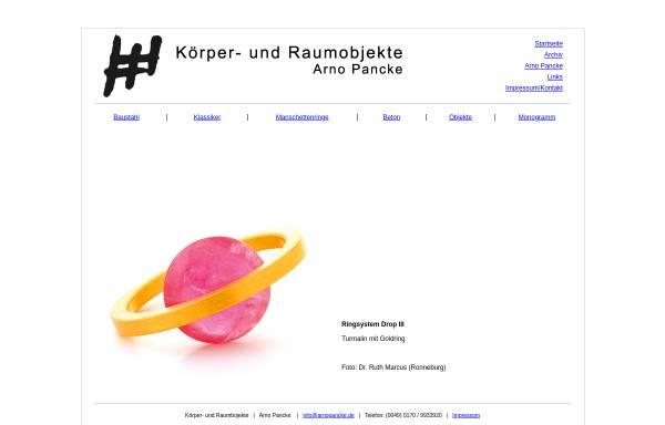 Vorschau von www.arnopancke.de, Arno Pancke Körper- und Raumobjekte