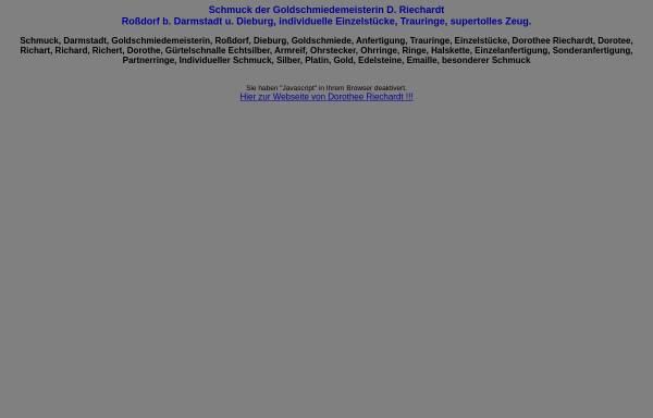 Vorschau von dorothee-riechardt.de, Dorothee Riechardt