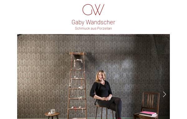 Vorschau von www.gabywandscher.de, Gaby Wandscher - Schmuckdesign, Porzellanschmuck