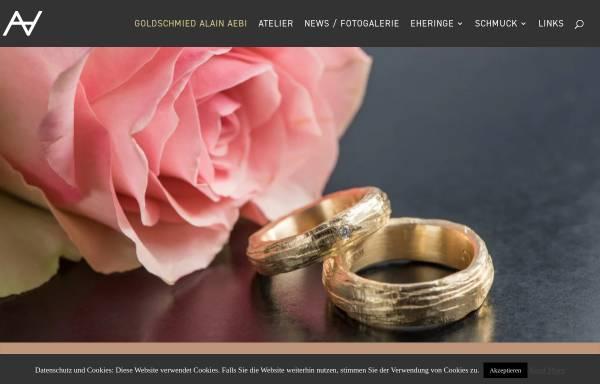 Vorschau von www.goldschmied-aebi.ch, Goldschmied Alain Aebi
