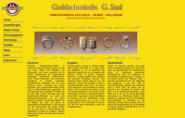 Vorschau von www.goldschmiedesaal.com, Goldschmiede Gisbert Saal