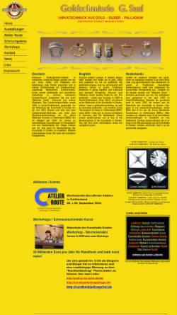Vorschau der mobilen Webseite www.goldschmiedesaal.com, Goldschmiede Gisbert Saal