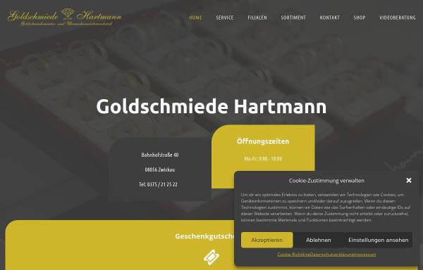 Vorschau von www.goldschmiede-hartmann.de, Goldschmiede Hartmann Zwickau