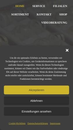 Vorschau der mobilen Webseite www.goldschmiede-hartmann.de, Goldschmiede Hartmann Zwickau