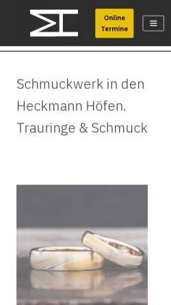 Vorschau der mobilen Webseite www.mvh-schmuckwerk.de, mvh-schmuckwerk, Michael von Hobe